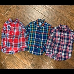 Children's place Toddler boys plaid shirts sz 3T